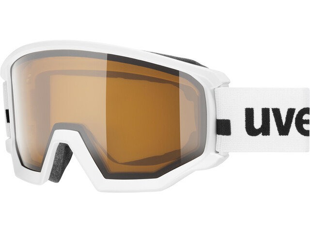 UVEX Athletic P Goggles, white mat/polavision